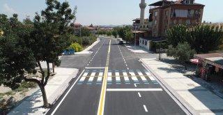 Şehit Er Yılmaz Bakan Caddesi'nde üst yapı tamamlandı