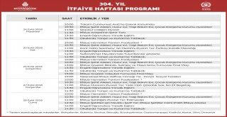 İTFAİYE HAFTASI İSTANBUL'DA BİR DİZİ ETKİNLİKLE KUTLANACAK!
