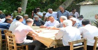 Başkan Sözlü'nün Bayram Ziyaretleri Açık Hava Mitingine Dönüşüyor