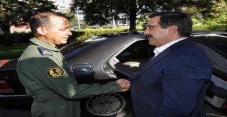 8. Ana Jet Üssü Komutanı Kottaş'tan Başkan Atilla'ya veda ziyareti