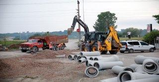 Karasu sanayide altyapı tamam sıra asfaltta