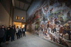 Başkan Şahin Panorama Müzesi'nin çalışmalarını inceledi.