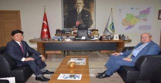 Kore Cumhuriyeti Başkonsolosu'ndan Başkan Kadir Albayrak'a Ziyaret