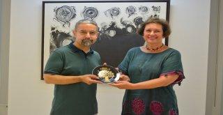 TSKM'de taş baskı sergisi açıldı