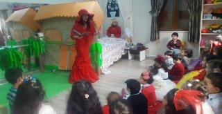 Kırmızı Başlıklı Kız Masalıyla Eğlendiler, Öğrendiler