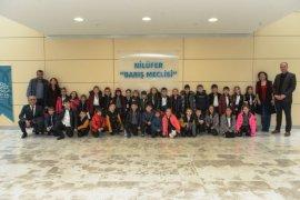 Minik öğrencilerden Nilüfer Belediyesi'ne ziyaret