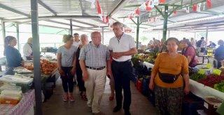Başkan Albayrak Mezitli Belediyesi Kadın Üretici Pazarı'nda İncelemelerde Bulundu