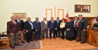 Azeri işadamlarından Başkan Aktaş'a ziyaret