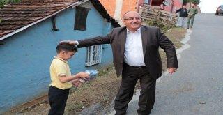 Başkan Hasan Can ve AK Parti Ümraniye İlçe Başkanı Av. Mahmut Eminmollaoğlu Ümraniyeli Hacı Yusuf Tatar'ı Ziyaret Etti