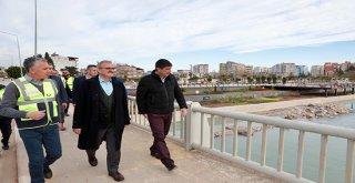 Başkan Türel Vali Karaloğlu'na Boğaçayı'nı gezdirdi