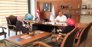 TÜGVA Ümraniye Kadın Aile Koordinatörlüğünden Başkan Hasan Can'a Ziyaret