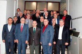 Başkan Büyükerşen'e Alevi Vakıfları Federasyonu'ndan ziyaret.