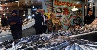 Başkan Sözlü'den Balıkçılar Pazarına Ziyaret