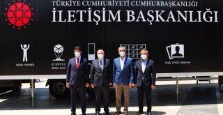 İletişim Başkanlığı Dijital Tır'ı Kahramanmaraş'ta