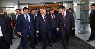 MHP Lideri Devlet Bahçeli Başkan Türel'i ziyaret etti