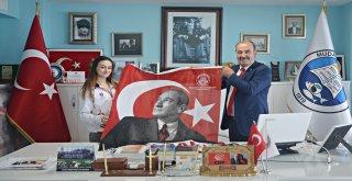 AVRUPA ŞAMPİYONU'NDAN BAŞKAN TÜRKYILMAZ'A ZİYARET