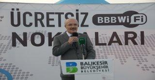 Balıkesir Büyükşehir Belediyesi Bilgi İşlem Dairesi Başkanlığı tarafından hayata geçirilen ücretsiz WİFİ sistemlerinin tanıtımı önceki gün Bandırma kordonda gerçekleştirildi.