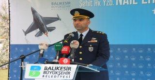 Balıkesir'de Şehit Hava Pilot Yüzbaşı Nail Erdoğan heykeli törenle açıldı.
