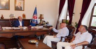 Başkan Gümrükçüoğlu, Dr. Demirci'yi kabul etti