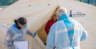 Büyükşehir doktorlarından çadır kentte sağlık taraması