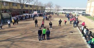 Büyükşehir destekliyor, Kandıra'da 600 öğrenci Bocce oynuyor
