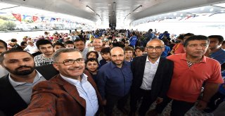 VALİDE SULTAN GEMİSİ ÜNALAN'I AĞIRLADI