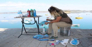 Sahil Yolu Üç Boyutlu Resimlerle Renkleniyor