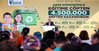 GERİ DÖNÜŞÜMDEN 500 BİN DEFTER DAHA