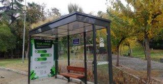 İzmir'in ilk doğa dostu otobüs durağı