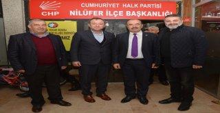 """BAŞKAN TÜRKYILMAZ'DAN CHP NİLÜFER'E """"HAYIRLI OLSUN"""" ZİYARETİ"""