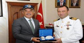 Tcg Yavuz Fırkateyn Komutanı'ndan Büyükşehir'e Ziyaret