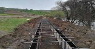 Tarımsal sulama kanal çalışmaları devam ediyor