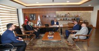 Diriliş Ertuğrul Dizisi Kurumsal İletişim Direktörü Hüseyin Özçelik'ten Başkan Hasan Can'a Ziyaret