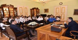 Atletizm takımından Başkan Aktaş'a ziyaret