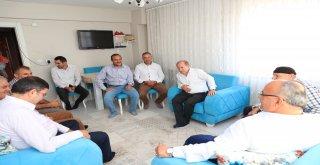 Başkan Hasan Can ve AK Parti Ümraniye İlçe Başkanı Av. Mahmut Eminmollaoğlu Ümraniyeli Davut Koç'u Ziyaret Etti