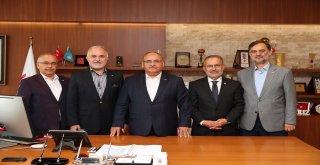 Türk Kızılayı Genel Başkanı Dr. Kerem Kınık ve Yönetiminden Başkan Hasan Can'a Ziyaret