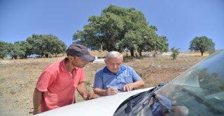 Büyükşehir'den mahalle mezarlıklarına malzeme yardımı