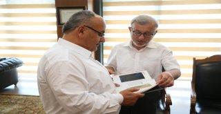 Başkan Hasan Can, FSM Vakıf Üniversitesi Güzel Sanatlar Fakültesi Dekanı Prof. Dr. Hüsrev Subaşı'yı Ağırladı