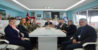 MHP'NİN YENİ YÖNETİMİNDEN BAŞKAN TÜRKYILMAZ'A ZİYARET
