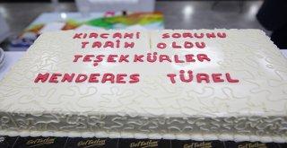 Kırcami muhtarlarından Türel'e pastalı teşekkür
