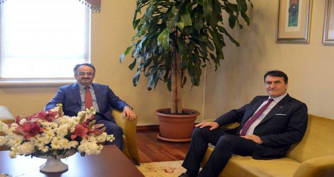 Kaymakam Orhan'dan Başkan Dündar'a Tebrik Ziyareti...
