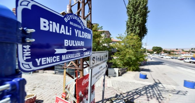 MECLİS BAŞKANI BİNALİ YILDIRIM'IN ADI BAŞKENT'TE YAŞAYACAK