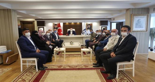 AK Parti Oltu Teşkilatından, Başkan Sekmen'e ziyaret