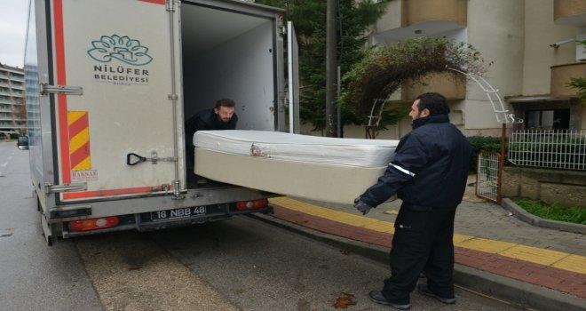 Nilüfer'de kullanılabilir eşyalar ihtiyaç sahiplerine ulaşıyor