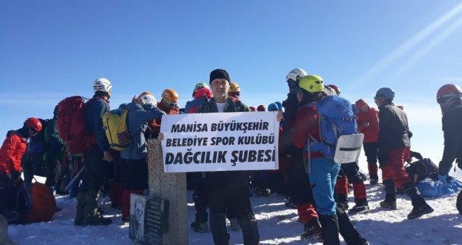 Manisa Büyükşehir Belediyespor'un Flaması Karadeniz'in Zirvesinde