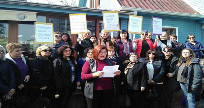 Nilüfer'de kadınlardan çocuk istismarı tepkisi