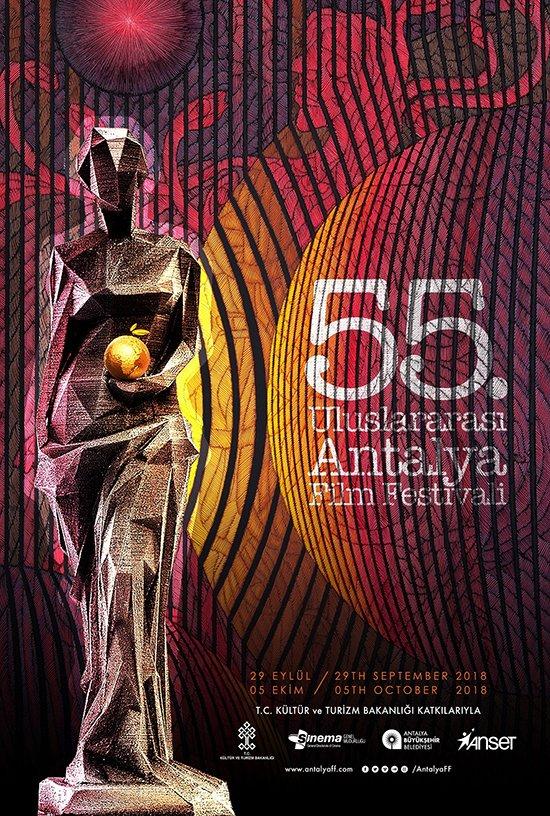 55. Uluslararası Antalya Film Festivali'nin sanatsal afişi Ahmet Güneştekin'den