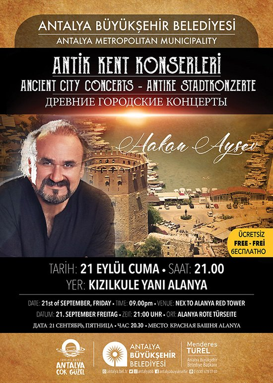 Sanatın başkenti Antalya'da Antik Kent Konserleri
