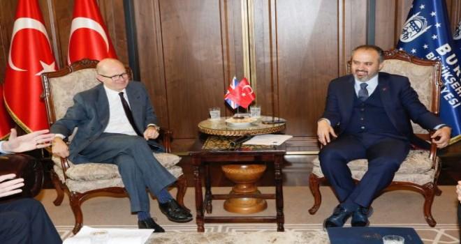 Bursa Büyükşehir'e İngiliz Büyükelçiden ziyaret.