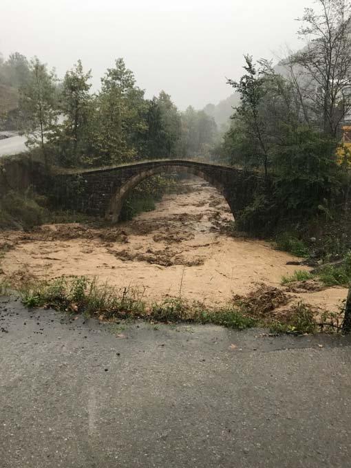 Trabzon'da sağanak yağış etkili oldu
